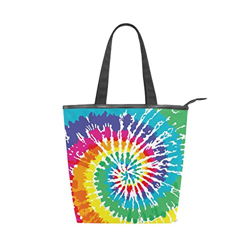 Printed Tie Colorful Tote Dye Canvas Bag Handbag Shoulder MyDaily Womens WnxaU0CqwI