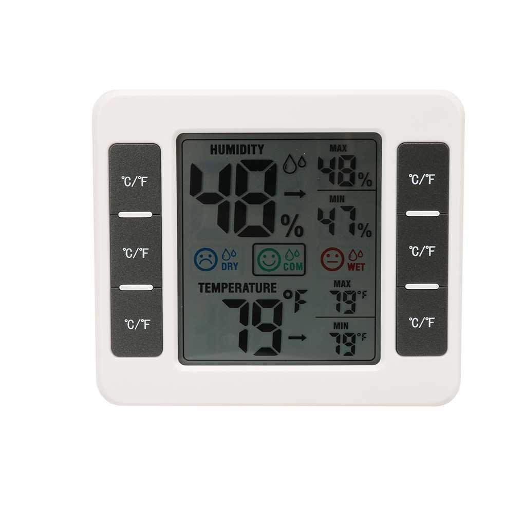 Royalr Strumenti CJ-3316D digitale a cristalli liquidi del termometro MAX/MIN digitale di umidità di temperatura Meter per la stanza