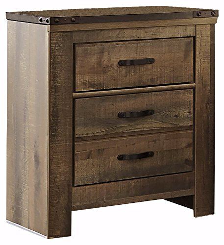 51jJGS 3EML - Signature Design by Ashley B446-92 Trinell Nightstand, Brown