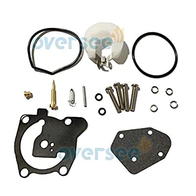 OVERSEE 66T-W0093-00-00 Outboard Carburetor Repair Kit For YAMAHA Outboard Motors 2-stroke 40HP X models E40X Boat Motor, Carburetor Replacement parts 66T-W0093