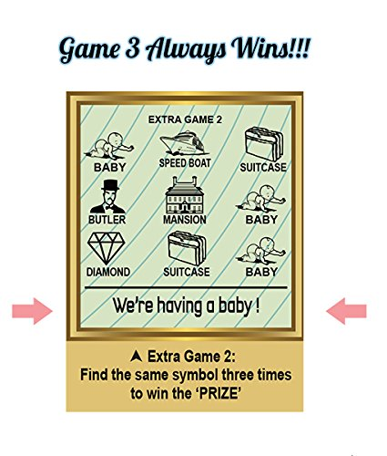 5PK Pregnancy Announcement Replica Scratch Off Cards | Perfect Keepsake For Announcing Pregnancy by Golden Rainbow (Image #2)