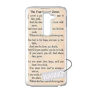 Clover bring luck to you LG G2 Protective Case, Clover bring luck to you DIY Case for LG G2 at WANNG