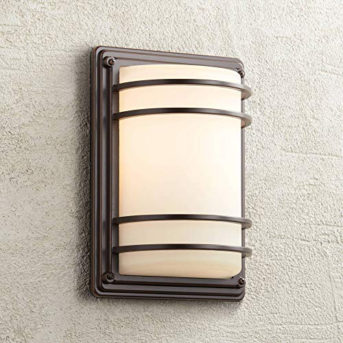 Outdoor Sconce Finish - Habitat Modern Outdoor Wall Light Fixture Rubbed Bronze 11