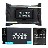 DUDE Flushable Wipes-Singles for Travel (30) and Dispenser Pack (48 Count) Hypoallergenic