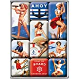Nostalgic-Art 83076 Pin up - Ahoy, Magnet-Set (9teilig)