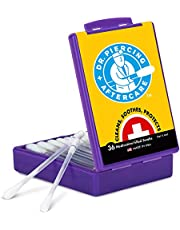 Dr. Piercing Aftercare Solution - 36 Medicated Swabs Treat Ear, Nose, Belly, and Body Piercings - Each Swab Contains Cleaner Treatment to Care For A Peircing - Best Cleanser to Heal Pierced Ears