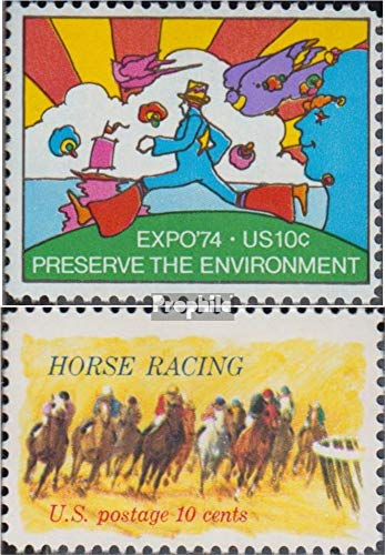 U.S. 1134,1135 (Complete.Issue.) 1974 World Exhibition, Kentucky Derby (Stamps for Collectors) Horses