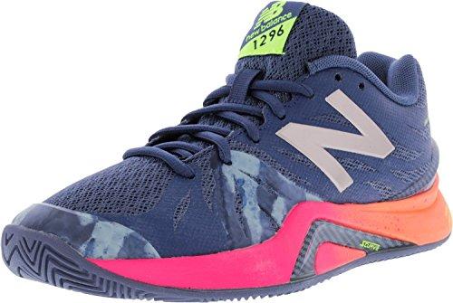 New Balance Women's 1296V2 Tennis Shoe, Vintage Indigo/Alpha Pink, 6.5 B US