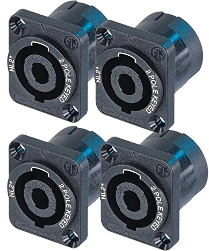 Neutrik NL2MP (PACK OF 4) Chassis Mount Solder, 2 Pole Type Speakon Connector 4 Pin Chassis Mount