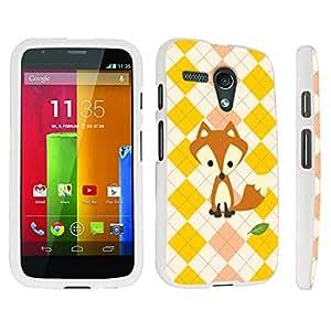 DuroCase ? Motorola Moto G 2013 1st Gen. Hard Case White - (Cute Fox)