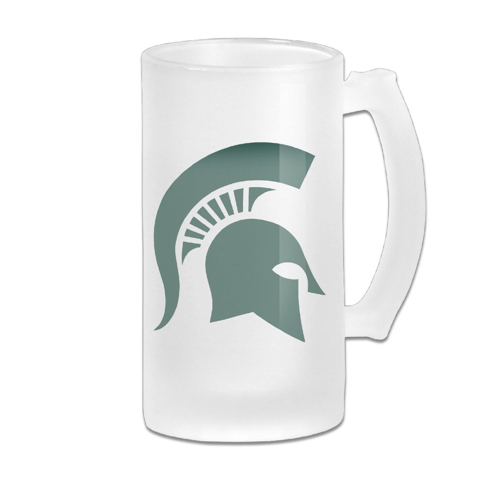 Spartans MSU Teams Logo Unique Logo Glass Stein Beer Mug Cup 16 Ounce by Crazysurvivor