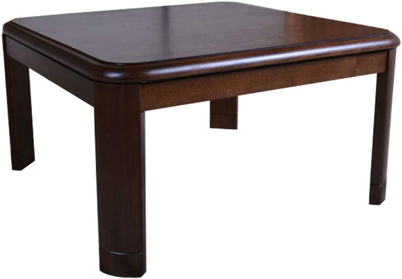 MustMat Warm Kotatsu Table Wood Japanese Heated Table Square 75 x 75 x 43cm Sturdy and Easy to Clean
