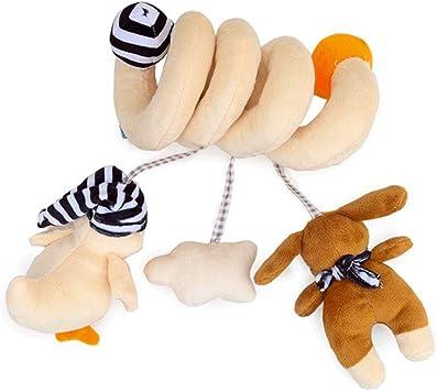 Runfon Spirale b/éb/é Hanging Toy Cartoon Poussette Berceau Jouet en Peluche Animaux Jouet /à Tirer avec Sensory Bulit-in Music Box pour Tout-Petits b/éb/é