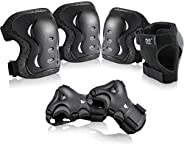 Child Adult Sports Protective Gear Safety Pad Safeguard Knee Elbow Wrist Support Pad Set Equipment for Childre