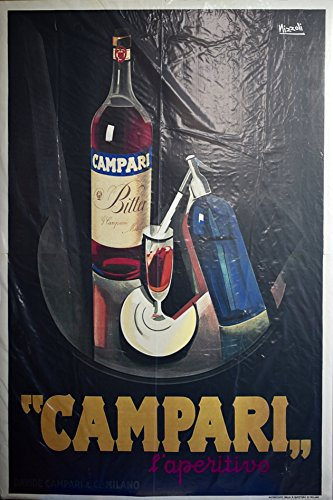 Marcello Nizzoli Artwork   1928 Campari Laperitivo   Davide Campari   Co   Milan   Print 24X36 Inch   Rare   Collectible