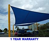 Quictent Outdoor 24' x 24' Square Sun Shade Sail Canopy Patio Garden Top Cover- Blue
