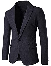Fulok Men's Casual Dress Suit Slim Fit Stylish Blazer Sport Coats Jackets