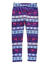 HDE Girls Winter Leggings Nordic Pattern Fleece Lined Pants