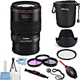 Canon EF 100mm f/2.8L Macro IS USM Lens #3554B002 [International Version] (Pro Bundle)