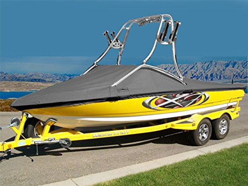 7oz Solution Dyed Polyester Material Custom Exact FIT Boat Cover Correct Craft PRO AIR NAUTIQUE I/O W/Flight Control Tower Upright W/SWPF 1999