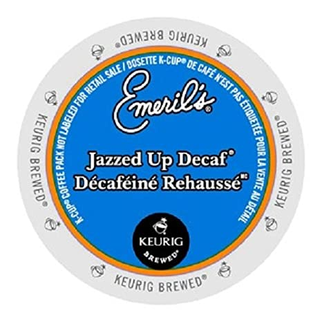 Emeril's Jazzed Up Decaf Coffee K-Cup Portion Pack for Keurig Brewers 96-Count Emeril's 842115011379