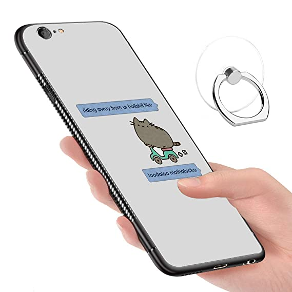 new style 16818 dbab7 Amazon.com: iPhone 6 Case,iPhone 6S Cases Tempered Glass Pattern ...