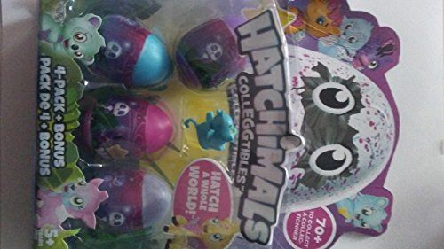 Hatchimal Glittering Garden purple/black Bearakeet with CollEGGtible Blind Pack!