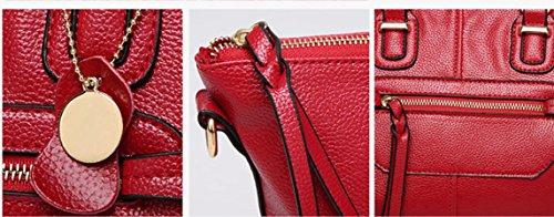 Caliente Satchel Bag Fashion Verano Y Negro Handbag Hombro Motorcycle Nueva gules Primavera Meaeo w5qv1X5