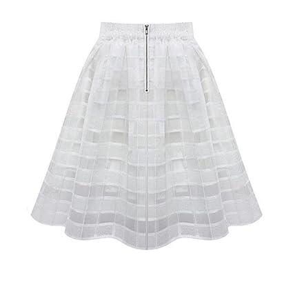 Faldas, Challeng Faldas de organza de las mujeres falda de tul de alta cintura de