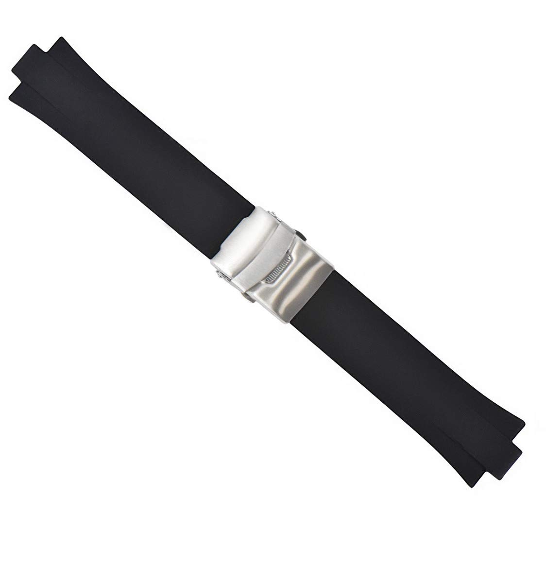 23MM 11MM TOP QUALITY PU RUBBER DIVER STRAP BAND FOR ORIS TT2 F1 40.5MM BLACK by Ewatchparts