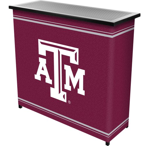 NCAA Texas A&M University Two Shelf Portable Bar with Case by Trademark Gameroom