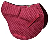 ECP Cotton Correction All Purpose Contoured Saddle Pad - Memory Foam Pockets Burgundy