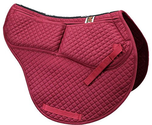 n All Purpose Contoured Saddle Pad - Memory Foam Pockets Burgundy ()
