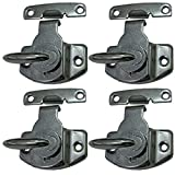 Echaprey Metal Black Table Lock Training Dining Table Connector Door Drawer Cabinet Buckle Hardware Accessories (4Pcs)