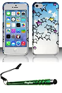 FoxyCase(TM) FREE stylus AND For iPhone 5c - Rubberized Design Case Cover Protector Sky Stars Desire Safe Phone cas couverture