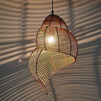 Schon MSAJ Das Mediterrane Restaurant Decke Led   Lampen, Rattan, Bambus Muschel  Kronleuchter Lampen