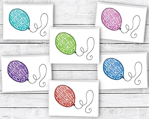 Colorful Birthday Balloons Happy Cards product image