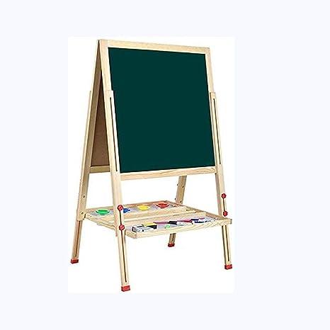 Soporte tv Pizarra Madera Infantil,2 en 1 Pizarra Magnética de Madera for Niños con Bandeja de Almacenamiento y Accesorios (Size : 146cm): Amazon.es: Deportes y aire libre
