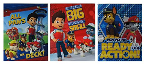 Paw Patrol Glossey Pocket Folders - 3 Pack
