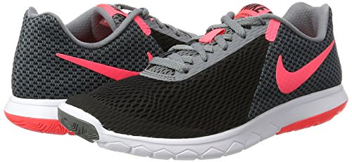 ef7c0cf4c412 Nike Flex Experience RN 6 Black Hot Punch Cool Grey White Womens Running