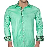 Mens Green St Patricks Day Dress Shirts - Made in the USA