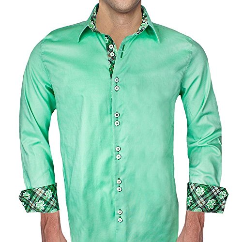 Mens Green St Patricks Day Dress Shirts - Made in the USA by Anton Alexander