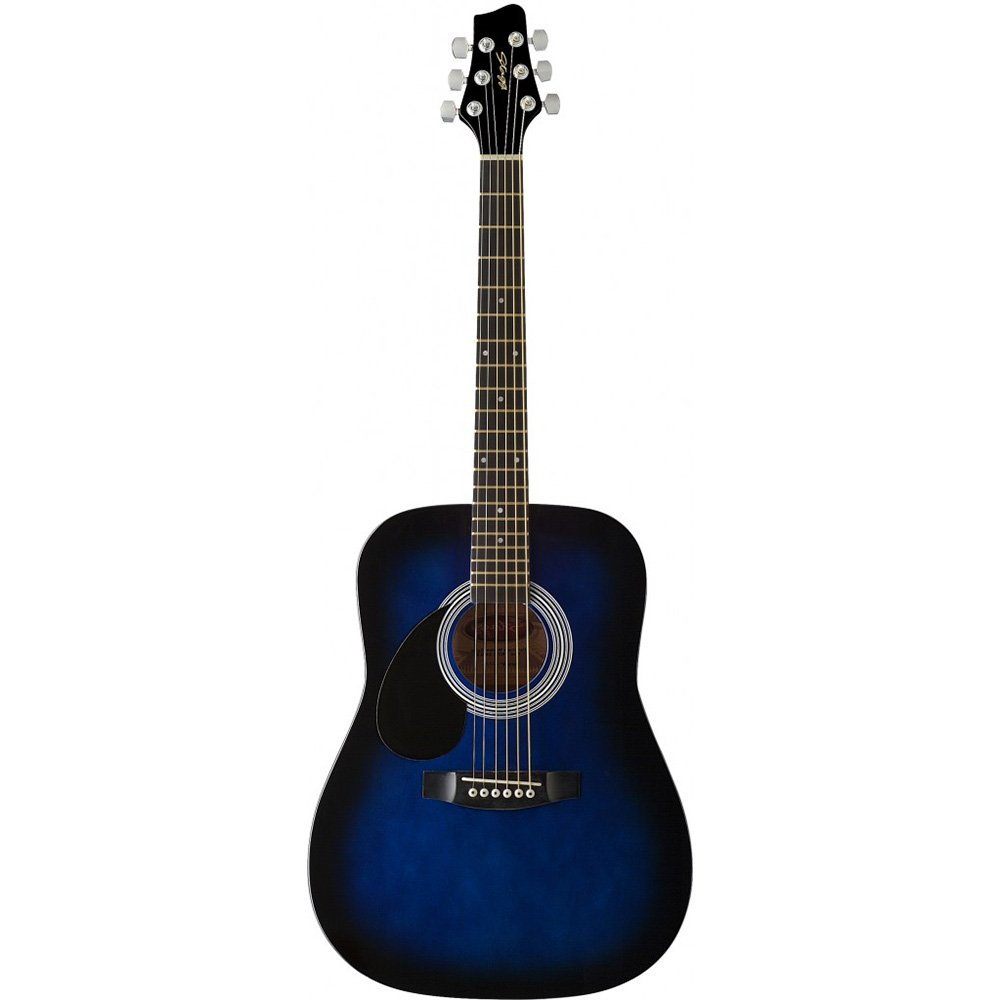 Stagg SW201 3/4 LH BK Dreadnought 3/4 Model Left Handed Acoustic Guitar, Black SW201 3/4-Size LH BK