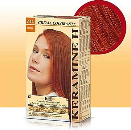 Keramine H crema colorante capilar 7,44 color Paprika ...