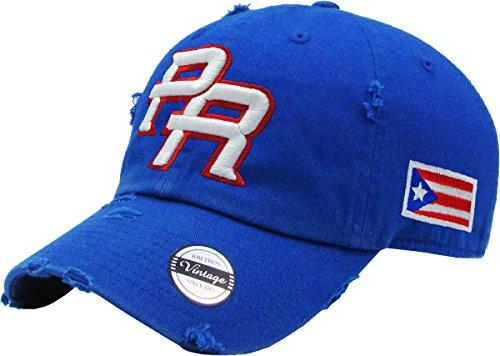 Peligro Sports Puerto Rico Snapback hats Vintage Hats (Vintage Royal/Full (Top Hat Puerto Rico)
