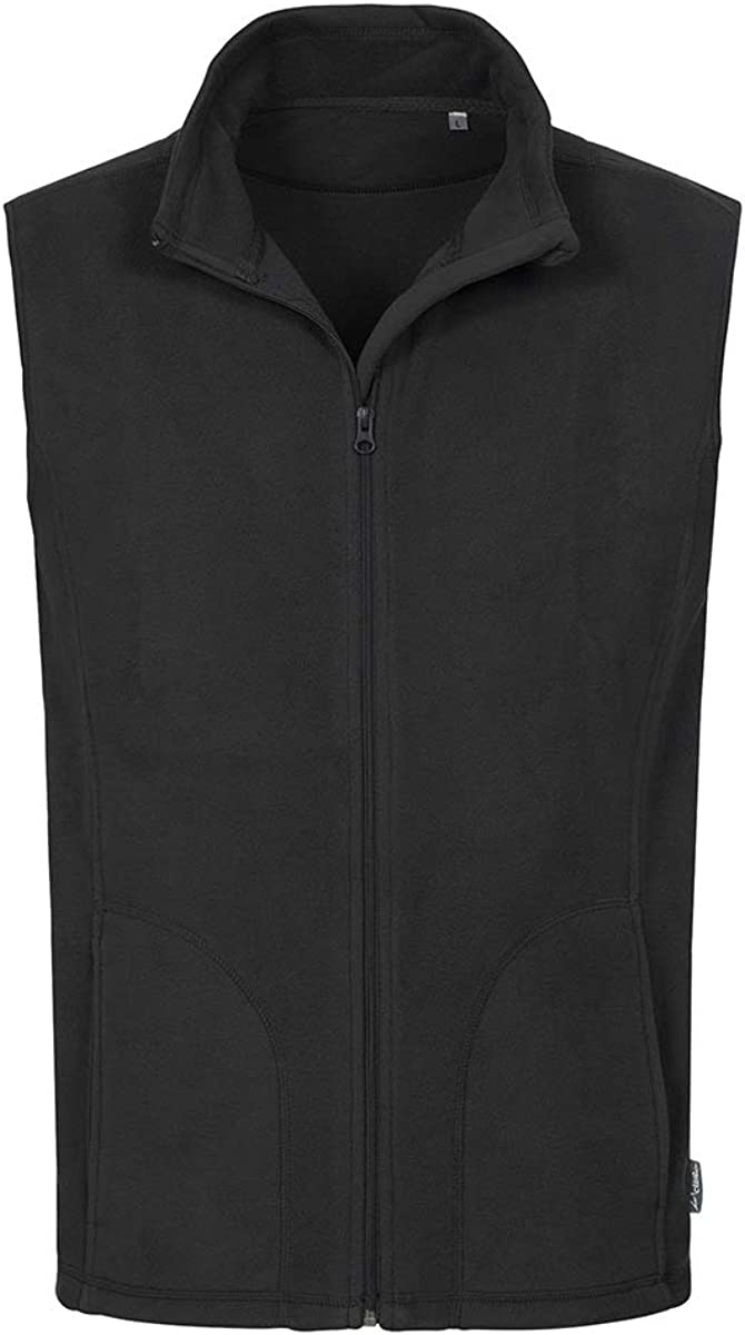 Stedman ST5010 Mens Active Fleece Gilet Black Opal L