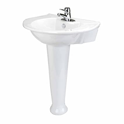 Pedestal Sink White Bathroom Georgian 24u0026quot; W X 32u0026quot; ...