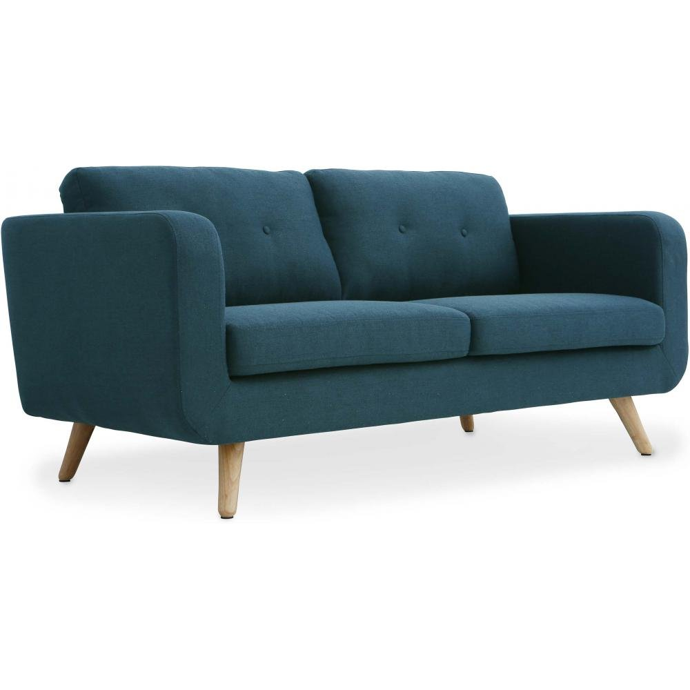 Oxydesign Sofa Azul 2/3 plazas diseño escandinavo - Bori: Amazon.es ...
