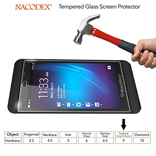 Nacodex® Glass For Blackberry Z10 Tempered Glass Screen Protector Film - [0.33mm 9H Hardness] (For Blackberry Z10) Photo #4