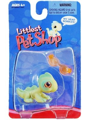 Littlest Pet Shop Exclusive Single Pack Figure - Iguana Sunglasses